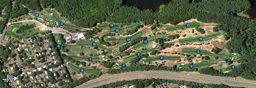 Wyckoff Country Club Course Layout